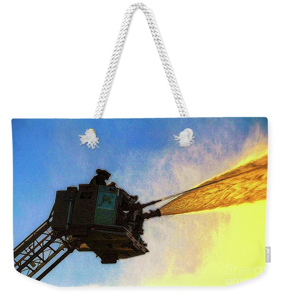 Ladder Operation At Dusk Weekender Tote Bag
