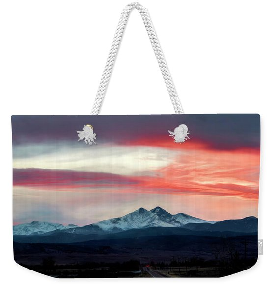 Ladies In The Sky Winter Sunset Weekender Tote Bag