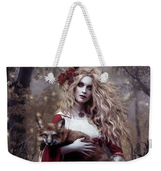 Lady And The Fox Weekender Tote Bag