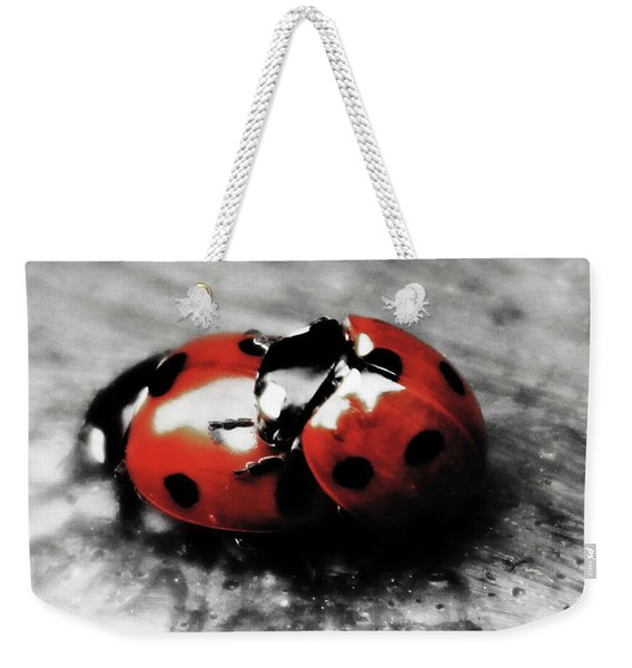 Lady Bug Loving Weekender Tote Bag