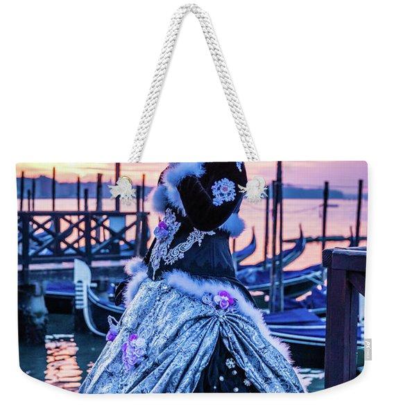 Lady In Black Weekender Tote Bag