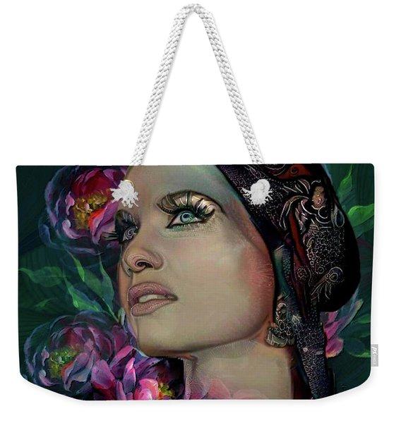 Lady In The Garden  Weekender Tote Bag