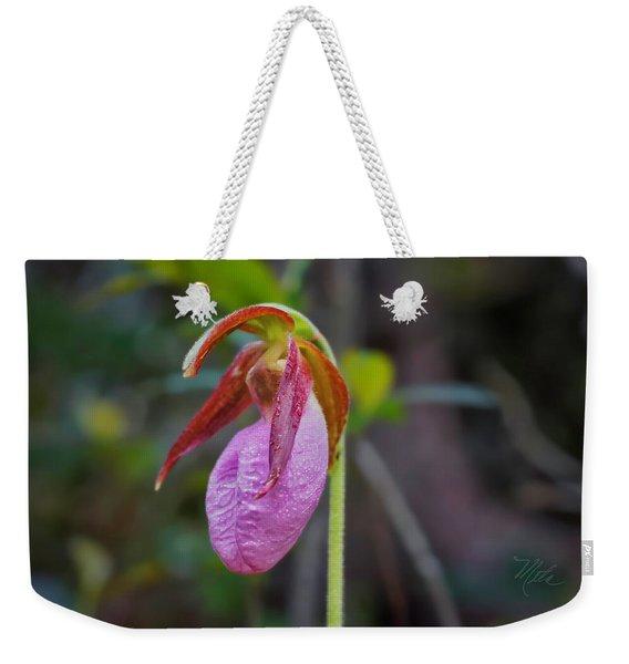 Lady Slipper Orchid Weekender Tote Bag
