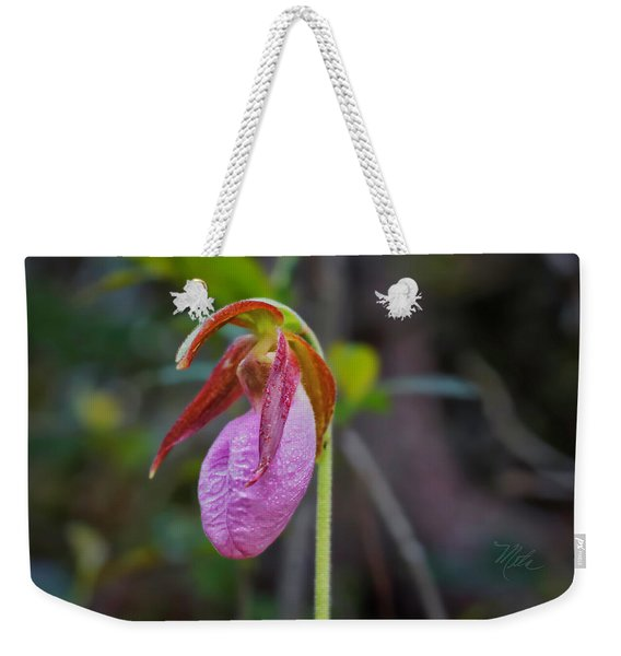 Lady Slipper Orchid Weekender Tote Bag