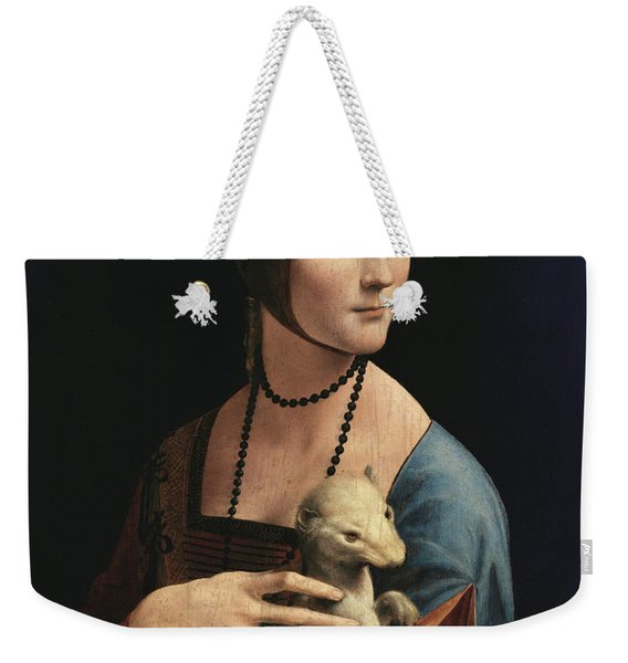 Lady With An Ermine, 1489 Weekender Tote Bag