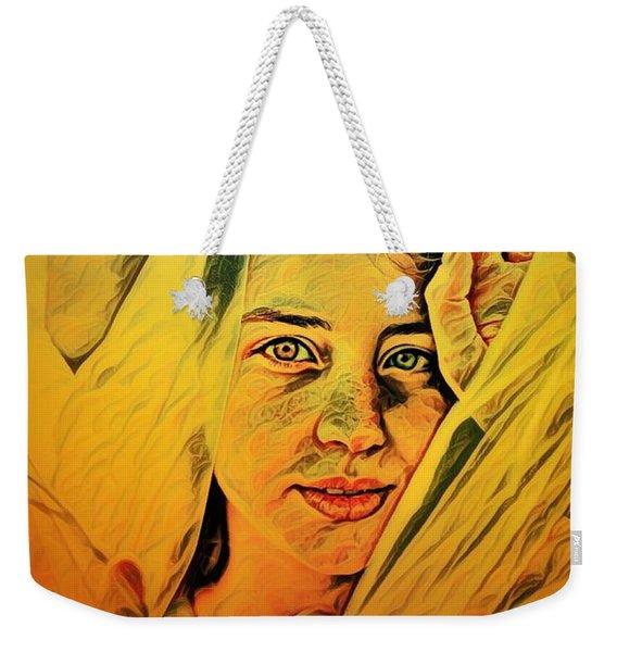 Lady Wrapped In Strings Weekender Tote Bag