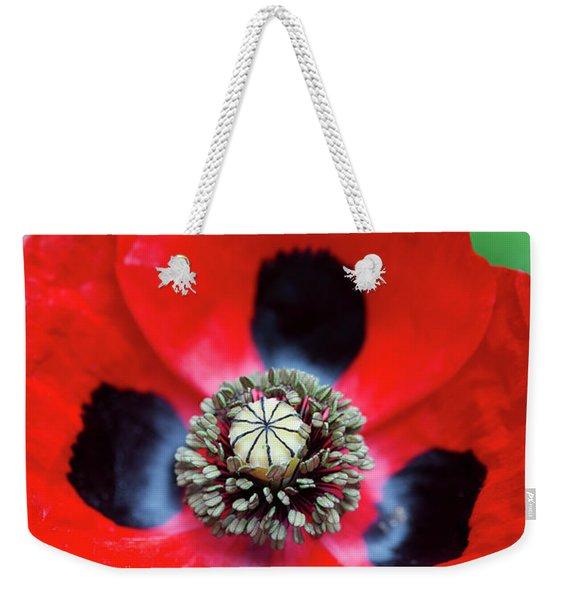 Ladybird Poppy Flower Weekender Tote Bag