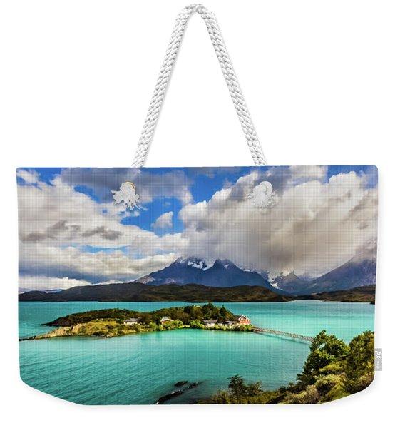 Lago Pehoe, Chile Weekender Tote Bag