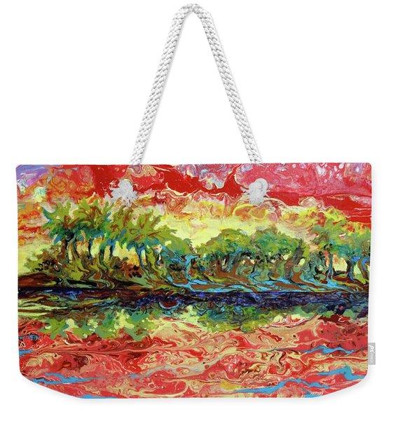 Lagoon Sunset Weekender Tote Bag