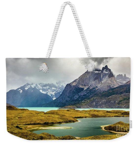 Laguna Larga, Lago Nordernskjoeld, Cuernos Del Paine, Torres Del Paine, Chile Weekender Tote Bag