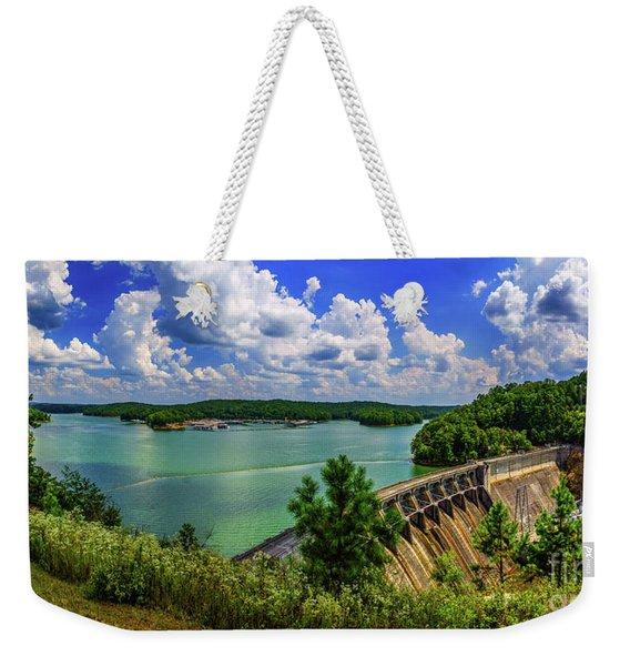 Lake Allatoona Dam Weekender Tote Bag