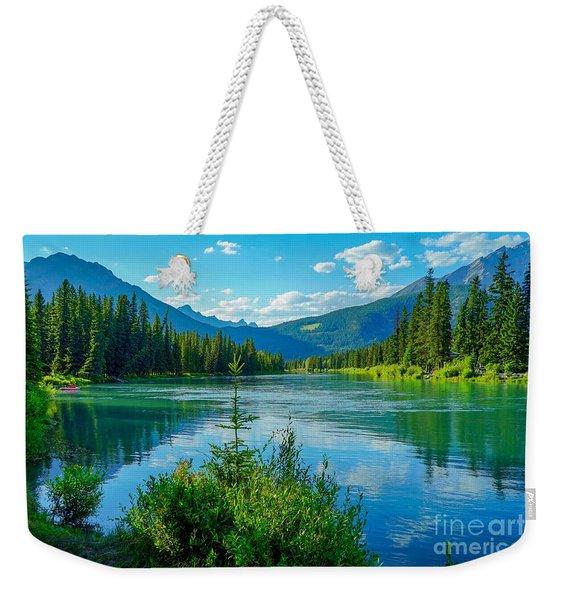 Lake At Banff Indian Trading Post Weekender Tote Bag