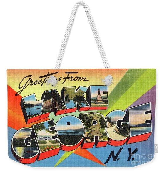 Lake George Greetings Weekender Tote Bag
