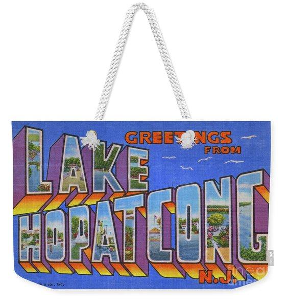 Lake Hopatcong Greetings Weekender Tote Bag