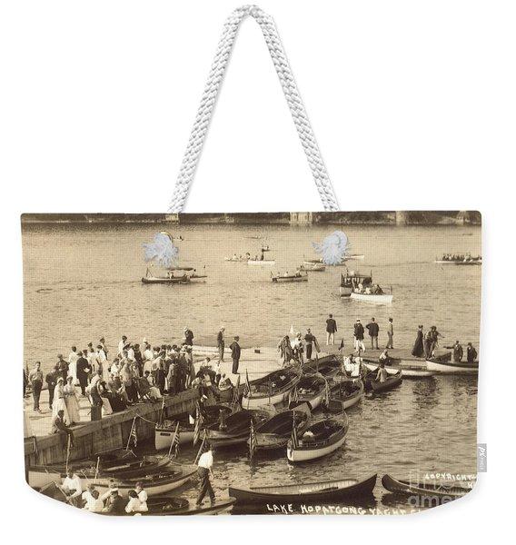 Lake Hopatcong Yacht Club Dock - 1910 Weekender Tote Bag