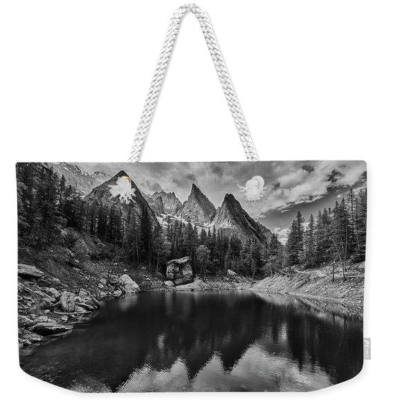 Lake In The Alps Weekender Tote Bag