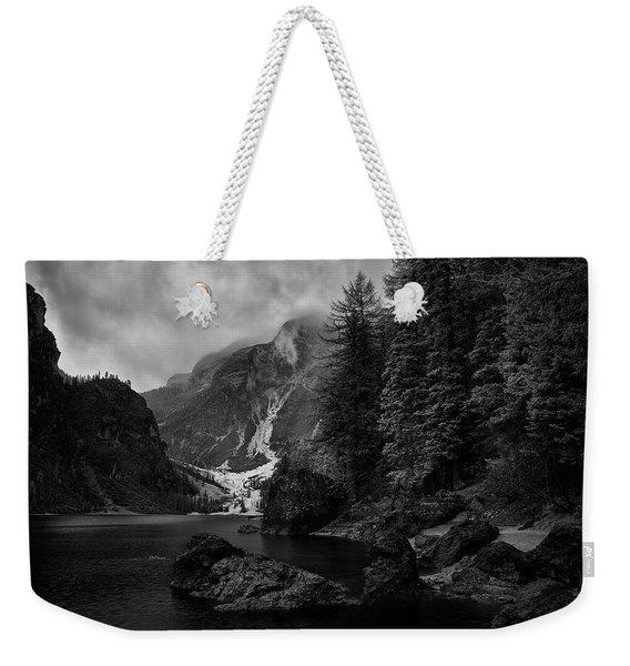 Lake In The Dolomites Weekender Tote Bag