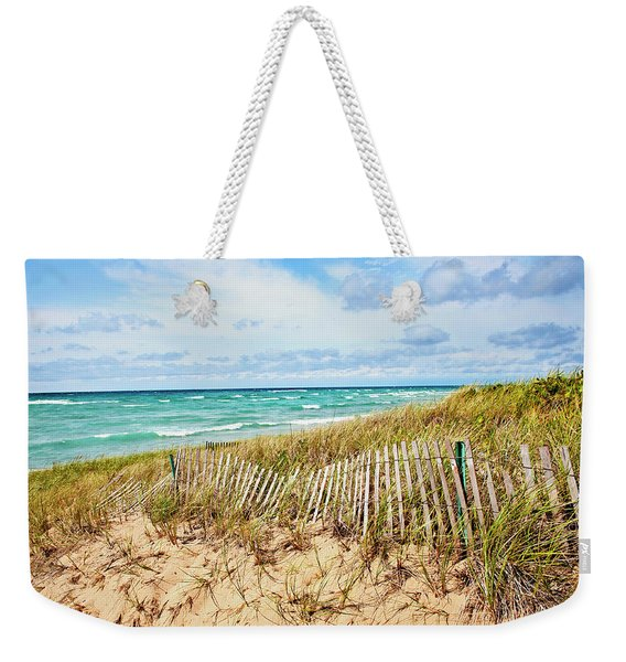 Lake Michigan Beachcombing Weekender Tote Bag