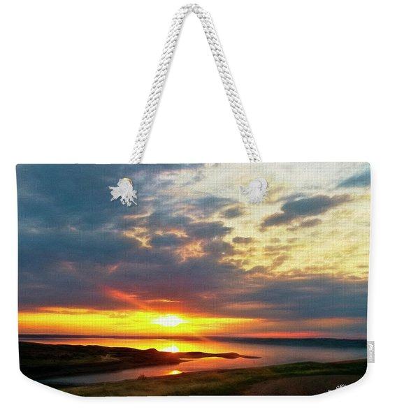 Lake Oahe Pierre Sd Weekender Tote Bag