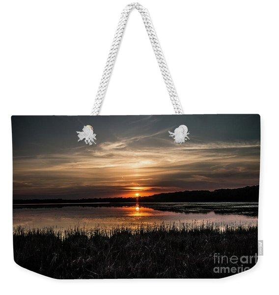 Lake Orrock Sunset Weekender Tote Bag
