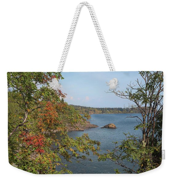 Lake Superior Autumn Weekender Tote Bag