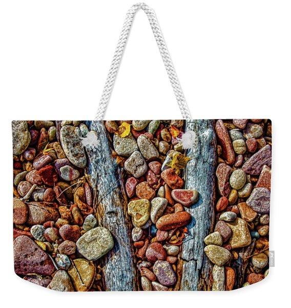 Lake Superior Beach Art Weekender Tote Bag