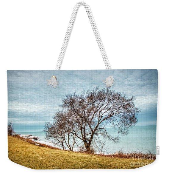 Lakeshore Lonely Tree Weekender Tote Bag