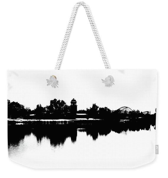 Lakeside Silhouette Weekender Tote Bag