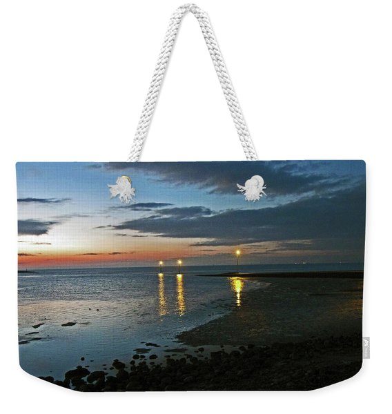 Lancashire. Knott End. Sunset.. Weekender Tote Bag