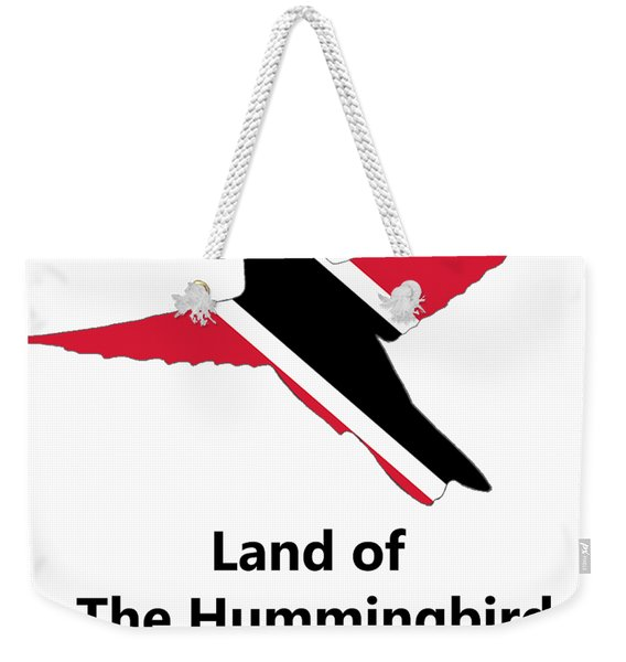 Weekender Tote Bag featuring the digital art Land Of The Hummingbird by Rachel Lee Young