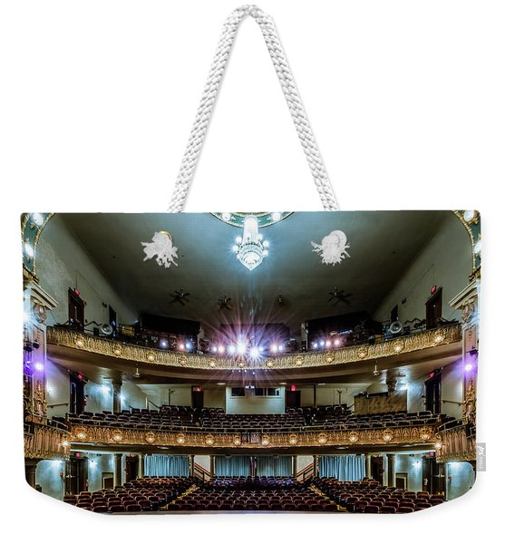 Landers Theatre Stage View Weekender Tote Bag