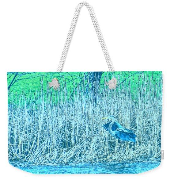 Landing Great Blue Heron Weekender Tote Bag