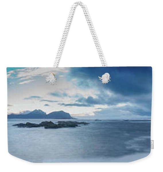 Landscape In The Lofoten Islands Weekender Tote Bag