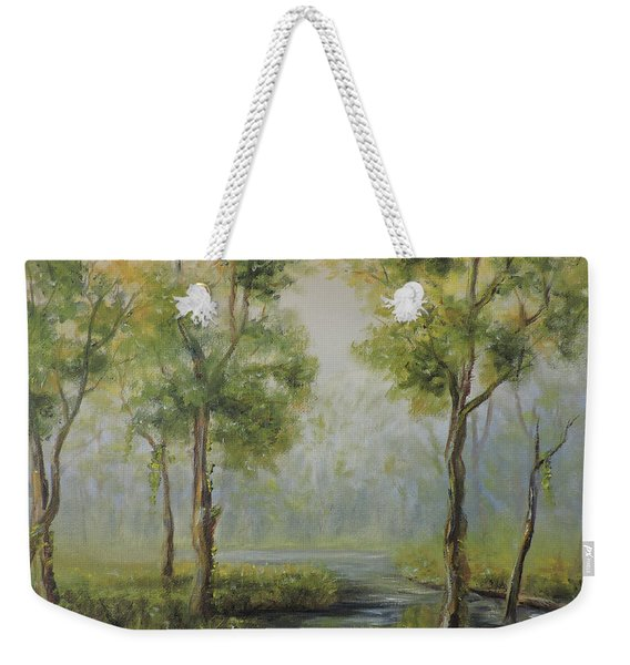 Landscape Of The Great Swamp Of New Jersey With Pond Weekender Tote Bag