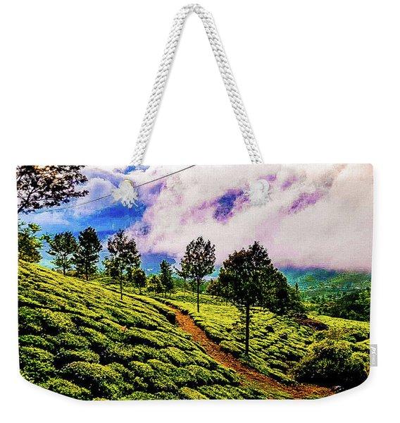 Green Landscape Weekender Tote Bag