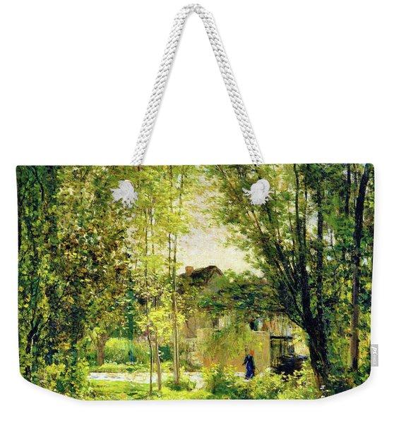 Landscape With A Sunlit Stream - Digital Remastered Edition Weekender Tote Bag