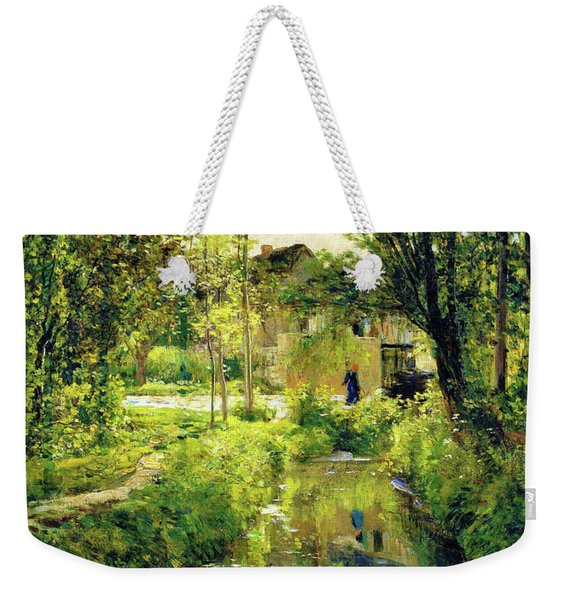 Landscape With A Sunlit Stream - Digital Remastered Edition Weekender Tote Bag