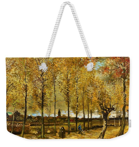 Lane With Poplars Near Nuenen - Digital Remastered Edition Weekender Tote Bag
