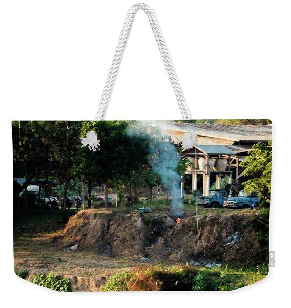 Laos Riverside Scene  Weekender Tote Bag