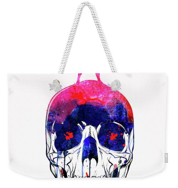Lara And The Skull Watercolor Weekender Tote Bag