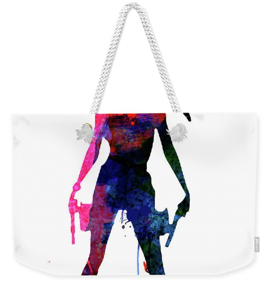 Lara Watercolor Weekender Tote Bag