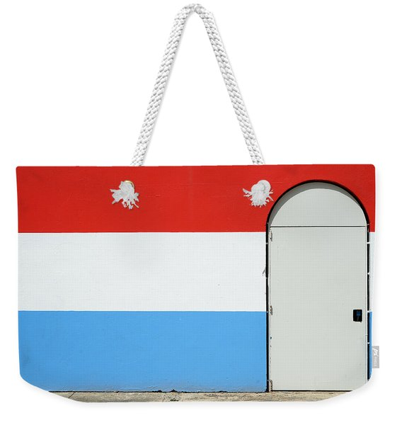 Las Croabas - Red White And Blue Weekender Tote Bag
