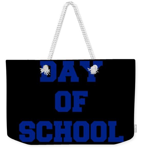 Weekender Tote Bag featuring the digital art Last Day Of School 2018 by Flippin Sweet Gear