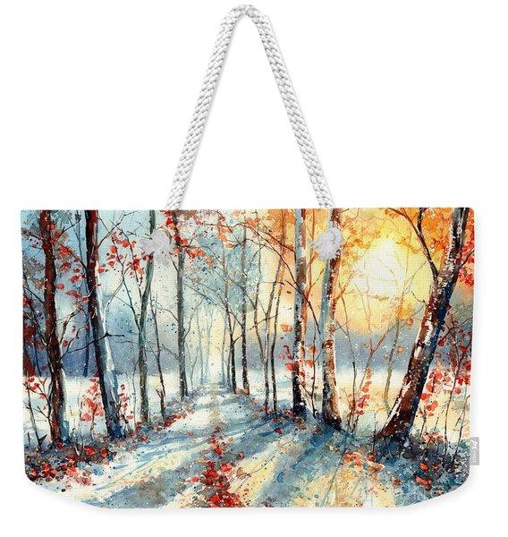 Last Leaves Weekender Tote Bag