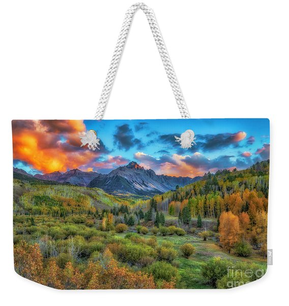 Last Light Mount Sneffels Weekender Tote Bag