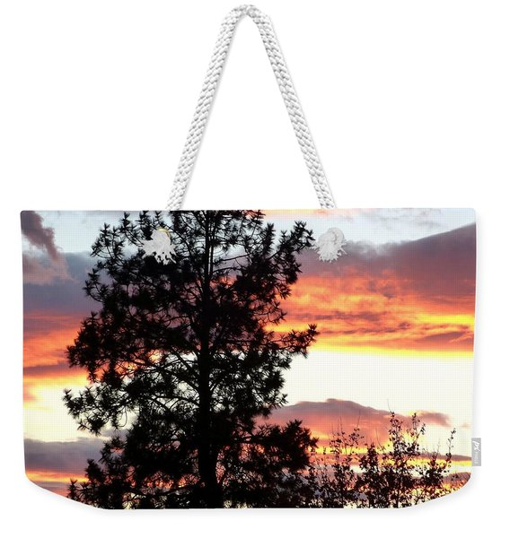Late October Silhouettes Weekender Tote Bag