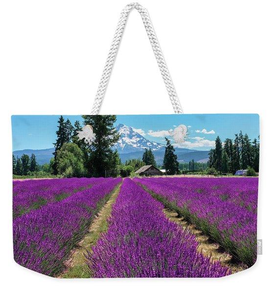 Lavender Valley Farm Weekender Tote Bag