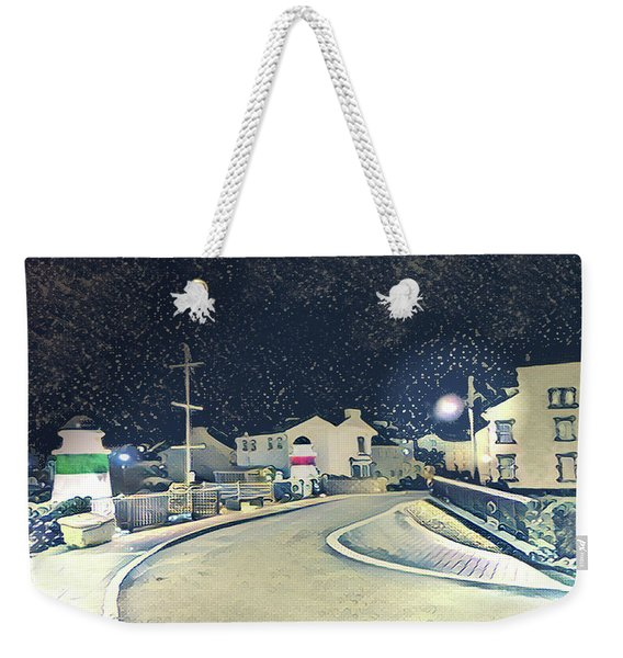 Laxey New Bridge On A Winter's Night Weekender Tote Bag