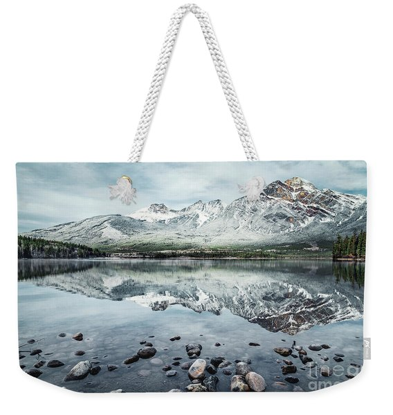 Layers Of Tranquility Weekender Tote Bag