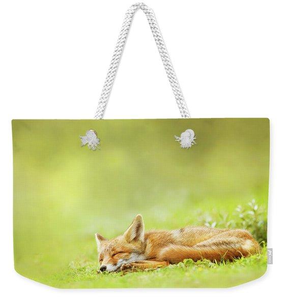 Lazy Fox Series - Foxy Dreams Weekender Tote Bag